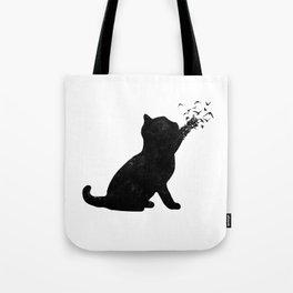 Poetic cat Tote Bag
