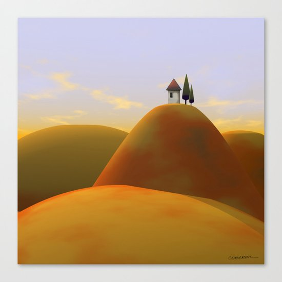 Toscana Two (part of diptych) Canvas Print