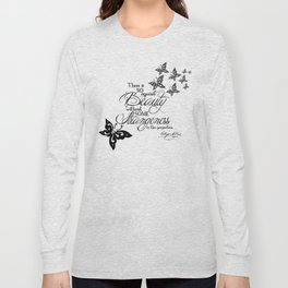 'Strange Skullerflies' -  Quotes - Edgar Allan Poe Long Sleeve T-shirt