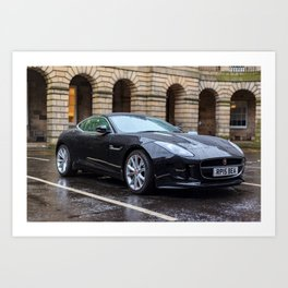 Jaguar in Edinburgh Art Print