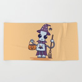Ned's Halloween Witch Beach Towel