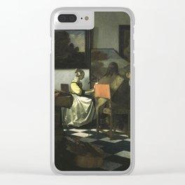 Stolen Art - The Concert by Johannes Vermeer Clear iPhone Case