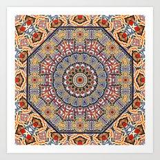 Pottery Tile Kaleidoscope Art Print