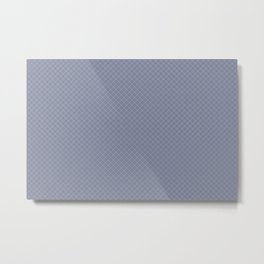 Earthy Green on Mellow Purple Parable to 2020 Color of the Year Back to Nature Angled Grid Pattern Metal Print