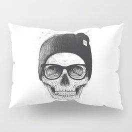 Black Skull in a hat Pillow Sham