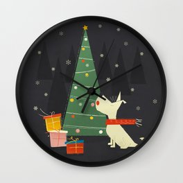 Little White Christmas Westie Wall Clock