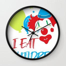 Clown Circus Gift Artists Juggler Manege Cool Wall Clock
