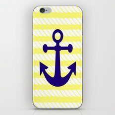 Blue Anchor with Yellow Ropes iPhone & iPod Skin