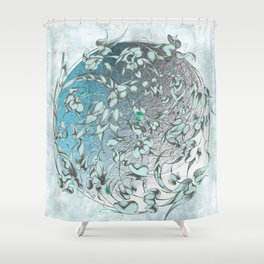 'The green world is man's sacred centre. Shower Curtain
