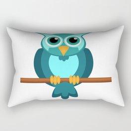 Blue Chibi Owl Rectangular Pillow