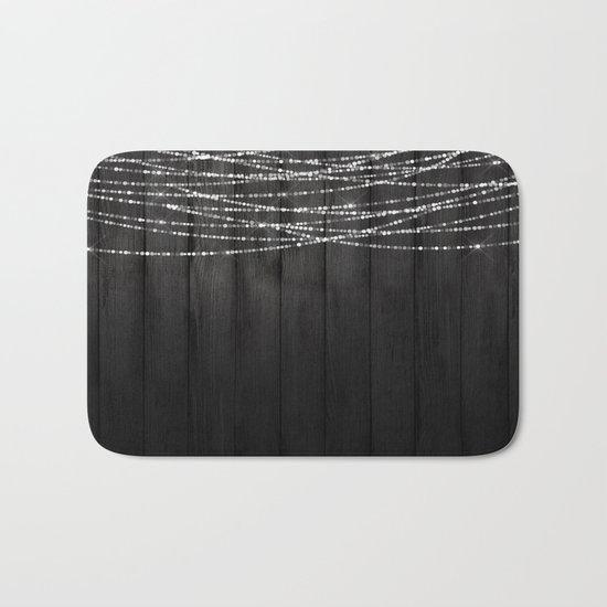 Fairy Lights on Wood 01 Bath Mat
