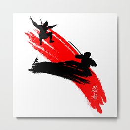 Ninjas Metal Print