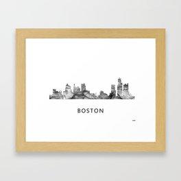 Bostonian Skyline WB BW Framed Art Print