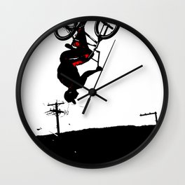 Daring Back-Flip - Freestyle BMX Bikers Wall Clock