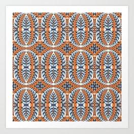 Winter Colors Pattern Art Print