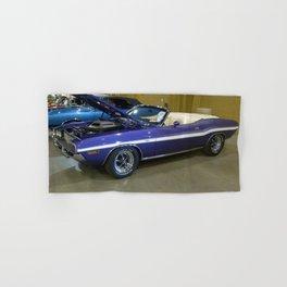 1970 Plum Crazy Purple 426 Hemi Challenger RT Convertible color photograph / photography  Hand & Bath Towel