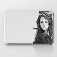 emma stone iPad Cases featuring Emma Stone by Vito Fabrizio Brugnola
