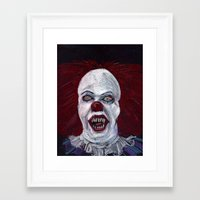 pennywise Framed Art Prints featuring Pennywise by Eric Dockery