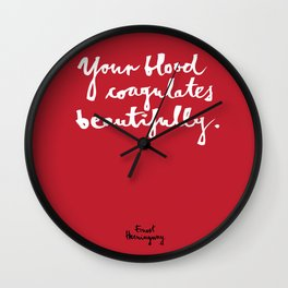 Blood-red Wall Clock