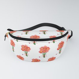 Pink Flower Bouquet for Valentines Day Fanny Pack