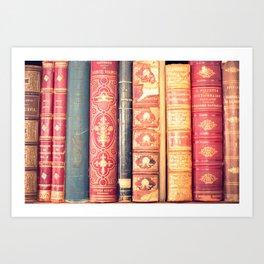 Classic bookshelf Art Print