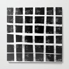 Raw grid Metal Print