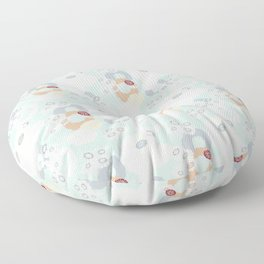 Pretty Poppies Seamless Repeating Pattern Floor Pillow