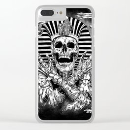 Pharaoh mummy Clear iPhone Case