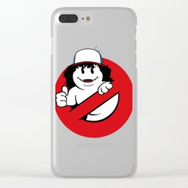 Ghostbuster dustin Clear iPhone Case