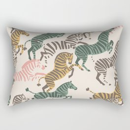 Zebra Stampede Rectangular Pillow