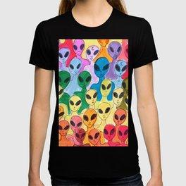 alien rainbow T-shirt