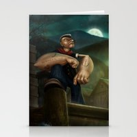 popeye Stationery Cards featuring Popeye by Geison Araujo