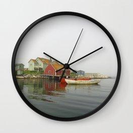 Fog in the Maritimes Wall Clock
