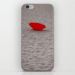 Lost red Umbrella iPhone Skin