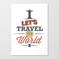 travel poster Canvas Prints featuring TRAVEL by Anthony Morell