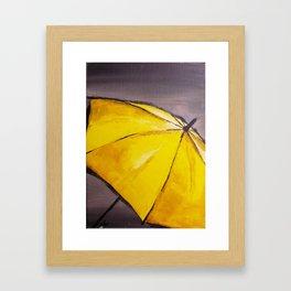 Yellow umbrella 2 Framed Art Print
