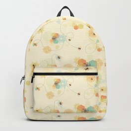 Busy bee textile pattern Backpack