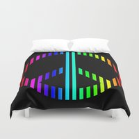 techno Duvet Covers featuring Techno Peace by JG Designs