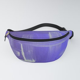 Purple Abstract Fanny Pack