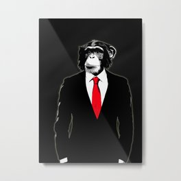 Domesticated Monkey Metal Print