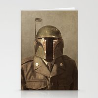 general Stationery Cards featuring General Fettson   by Terry Fan