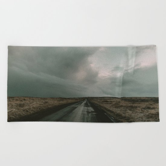 Miles to Go x Iceland Road Beach Towel
