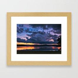 Beach Laconia NH Framed Art Print