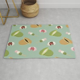 Japanese sweets (Green) Rug