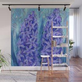 Hyacinths, Spring Flowers Blue Violet Floral Art Wall Mural