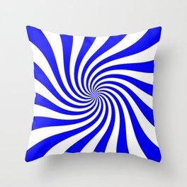 Swirl (Blue/White) Throw Pillow