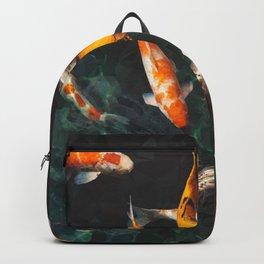Geometric Koi Fishes Backpack
