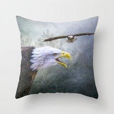 Eagle territory Throw Pillow