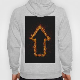 Fire Arrow up Hoody