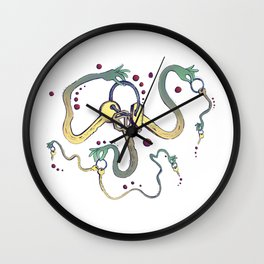 Handsy Keys by Maisie Cross Wall Clock